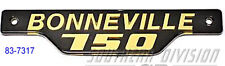 Triumph 83-7317 badge sidecover BONNEVILLE 750 black gold seitendeckel emblem