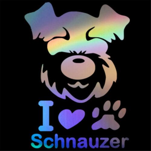 I Love Schnauzer Dog Sticker Car Bumper Window Laptop Door Wall Vinyl Decal