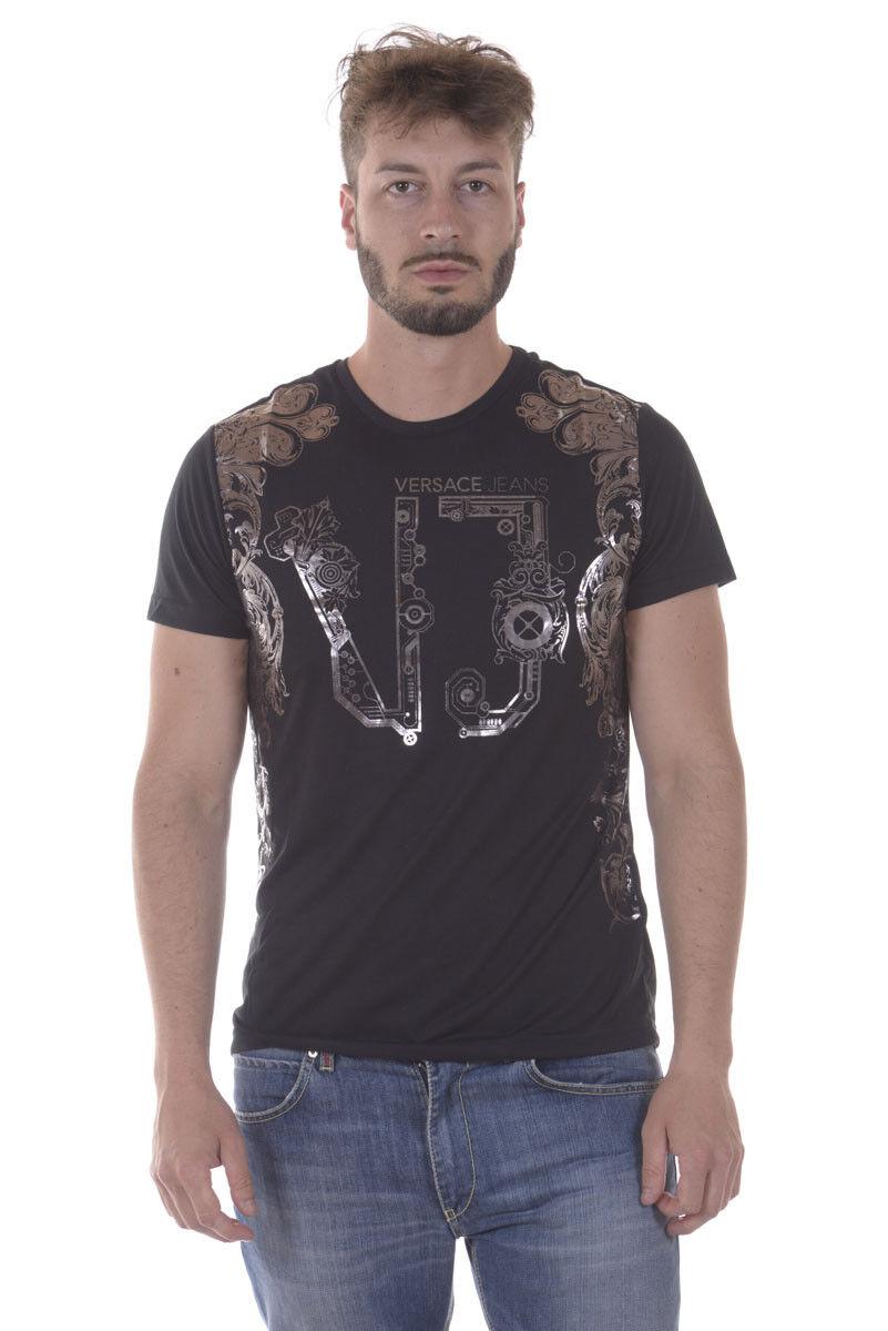T shirt Maglietta Versace Jeans Sweatshirt REGULAR  Herren Nero B3GPA734 899