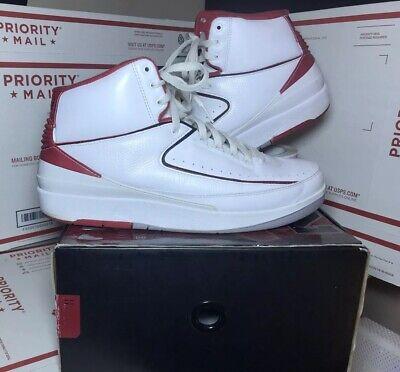 sale retailer 5b12c f9b1c Air Jordan 2 Chicago White Varsity Red Fire Og Mens Size 12.5 (308308-162)  shoe | eBay