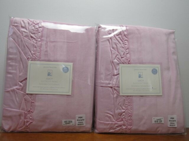 Nwt Pottery Barn Kids Lucy Velvet Blackout Panels Pink 44