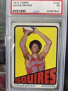 1972 Topps Basketball #195 Julius Erving Rookie Card Rc  PSA 1  🔥