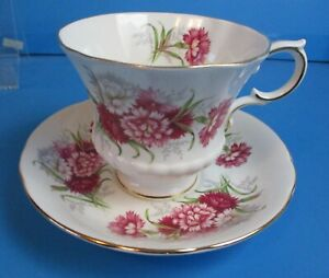PARAGON-CUP-AND-SAUCER-PINK-FLOWERS-EXCELLENT-CONITION