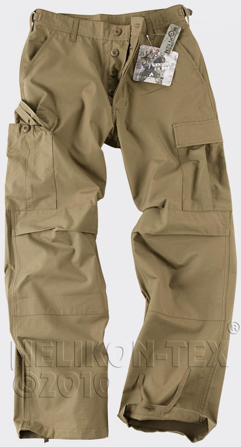 Helikon Tex Us Bdu Outdoor Cargo Pants Army Coyote Small Long