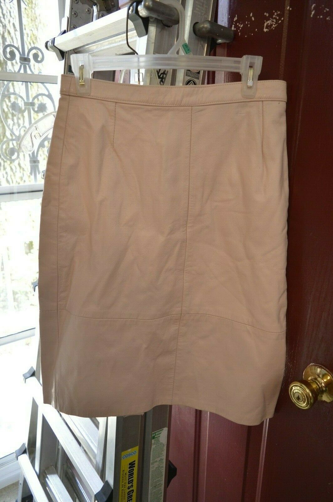 Nwt pink leather skirt  13 14