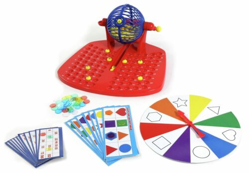 Kids Children/'s Colours and Shapes Bingo Board Traditional Modern Game Play Set