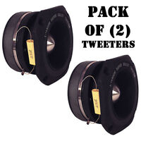 Pair Of Pyramid Tw46 1.5 400 Watt Die-cast Aluminum Titainium Super Tweeters on sale