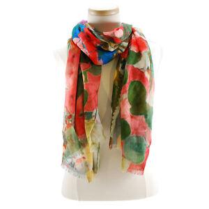 Mary-Frances-Springtime-Printed-Scarf-Multi-Color-Embellished-NEW