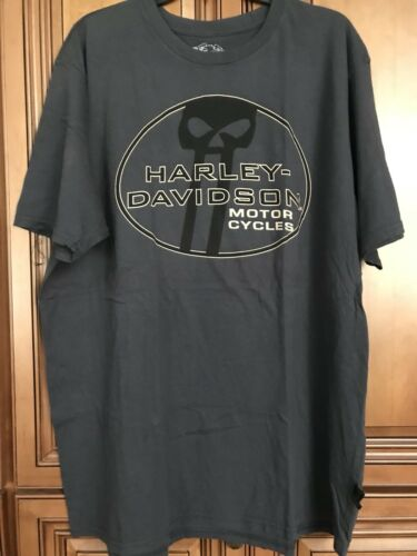 New 2XL Blu Harley Davidson Willie G Racing 1 One Mens Distressed Blue Shirt 2XL