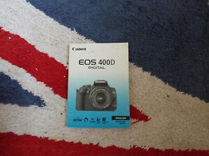 Canon eos 400d manual.