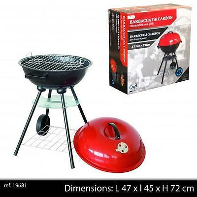 BARBECUE AMERICAIN A ROULETTES GRILLE ET COUVERCLE  AERATION VENTILE NEUF 11