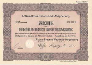 Actien-Brauerei-Neustadt-Magdeburg-1942-100RM