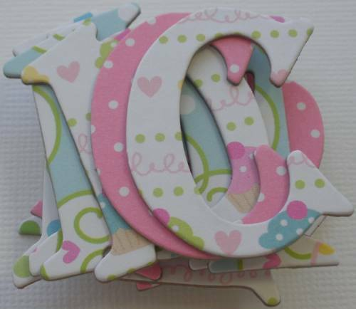 Doodlebug ~*CONFECTiONS*~ Cupcake  Birthday Chipboard Letters 1.5 Tall