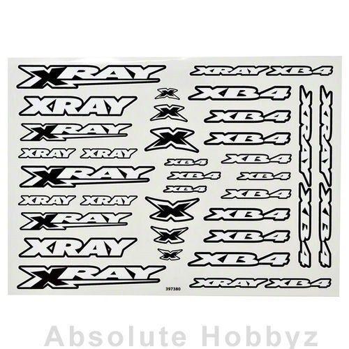 XRA397380 Xray XB4 Sticker For Body White