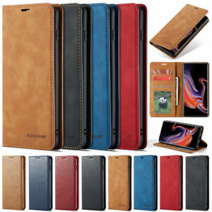 Pour Samsung Galaxy S10/S10 Plus Luxe Slim Leather Flip Wallet Stand Case Cover