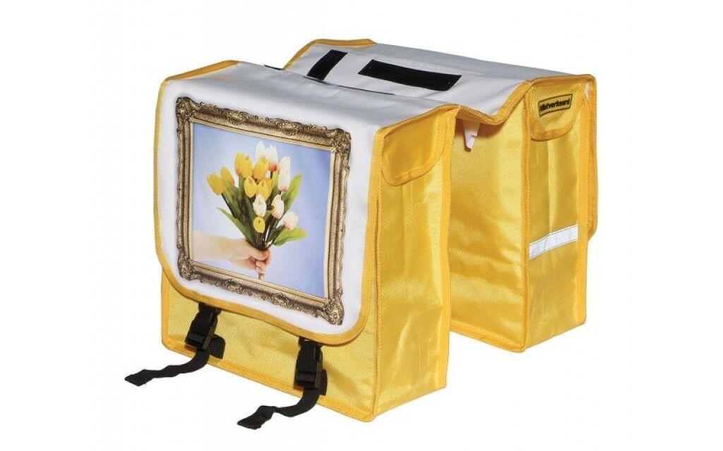 Borse Laterali Bici Doppia Tulipani  11 Liter Bianco yellow  manufacturers direct supply