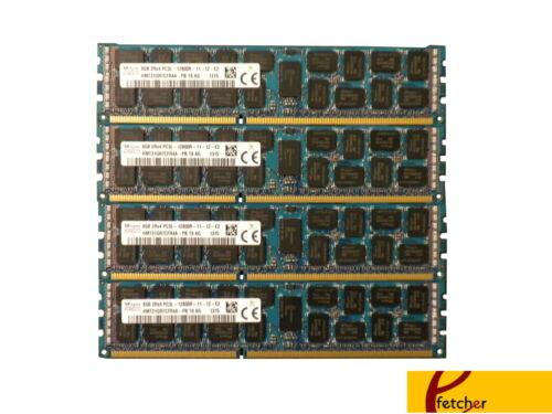4 X 8GB PC3-12800 DDR3 1600 ECC Reg RAM Memory Supermicro X9DR3-F 32GB