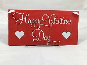 Image Is Loading Happy Valentine 039 S Day Sign With Hearts