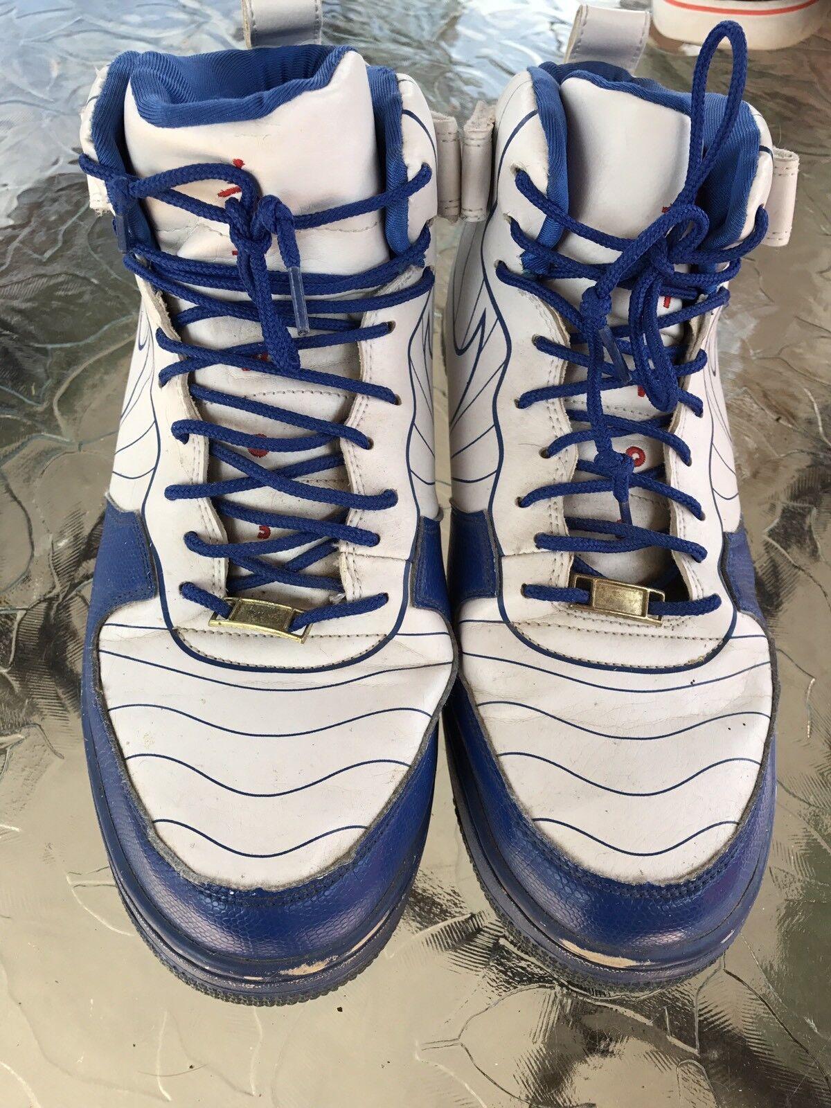 Nike jordan 11,5 scarpe basket bianco & blu attiva scarpe alte scarpe 11,5 da tennis 418cb9