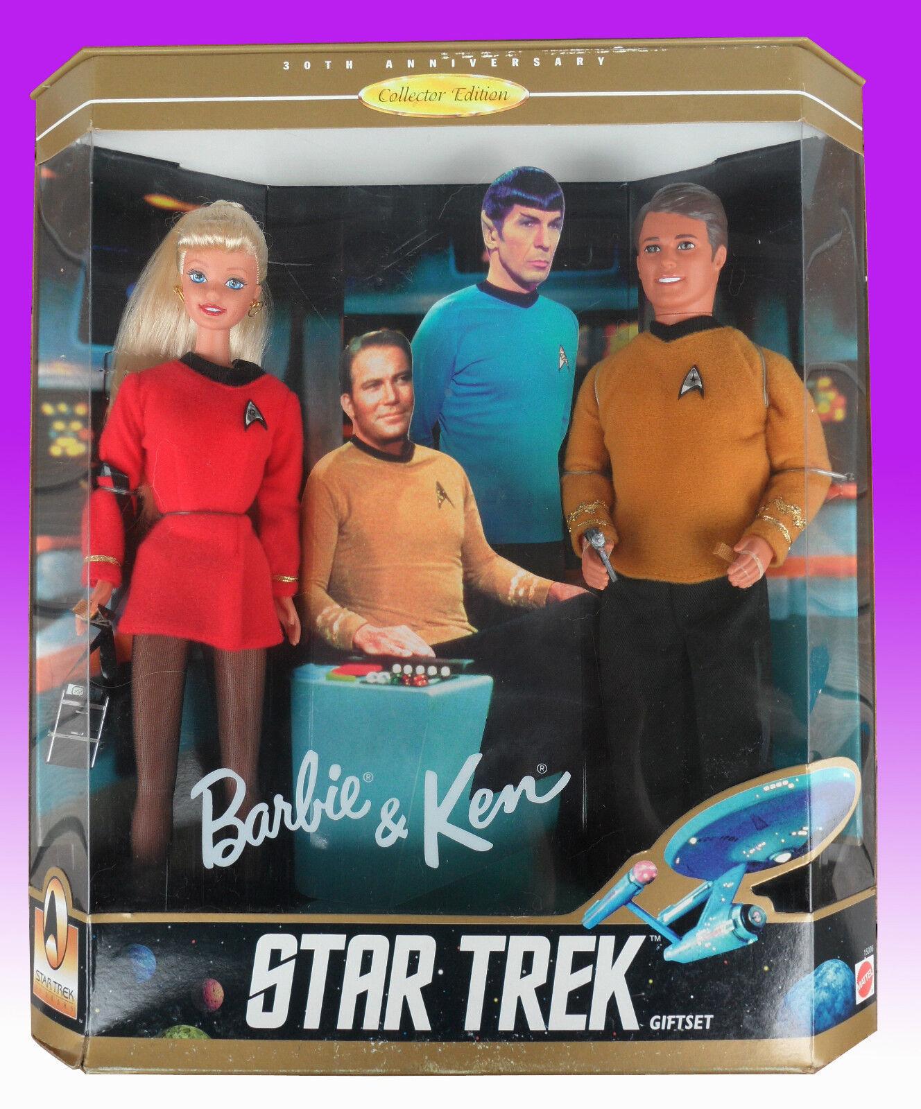BARBIE e KEN STAR TREK Gift Set 1996 NRFB NUOVI PERFETTI
