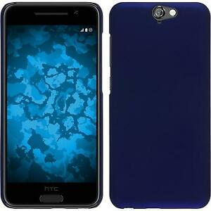 Hardcase-for-HTC-One-A9-rubberized-blue-Cover-protective-foils