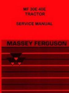 massey ferguson mf 30e mf 40e mf30 mf40 e tractor workshop service rh ebay com Massey Ferguson 88 Massey Ferguson 50