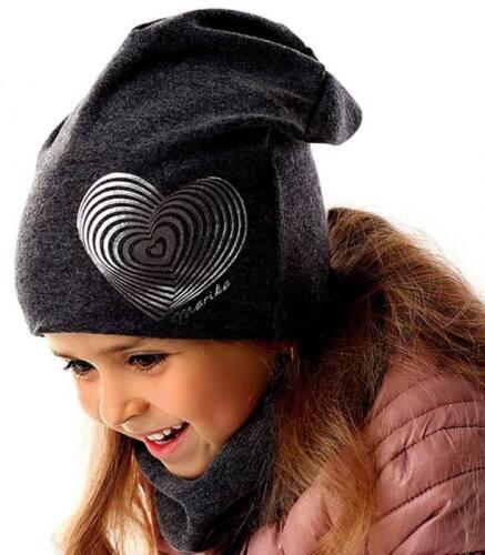 Marika fille Winterset Bonnet Beanie Loopschal cheminée écharpe coton avec