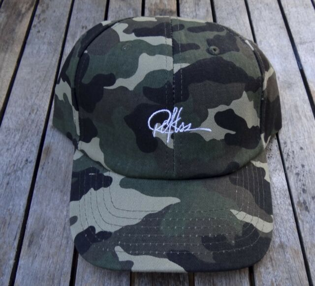 pretty nice ed9fb 49cbc NEW YOUNG AND RECKLESS CAMO SIGNATURE SKATE TEAM MENS SPORT DAD HAT RHTY R-4
