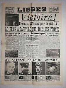 N1224-La-Une-Du-Journal-Libres-9-mai-1945-Victoire-Reich-a-capitule