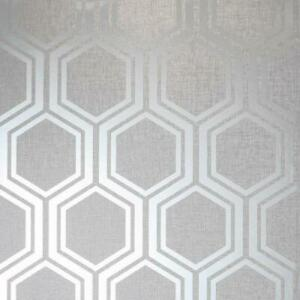 Behangrollen Arthouse Luxe Damask Hexagan Ogee Geo Metallic