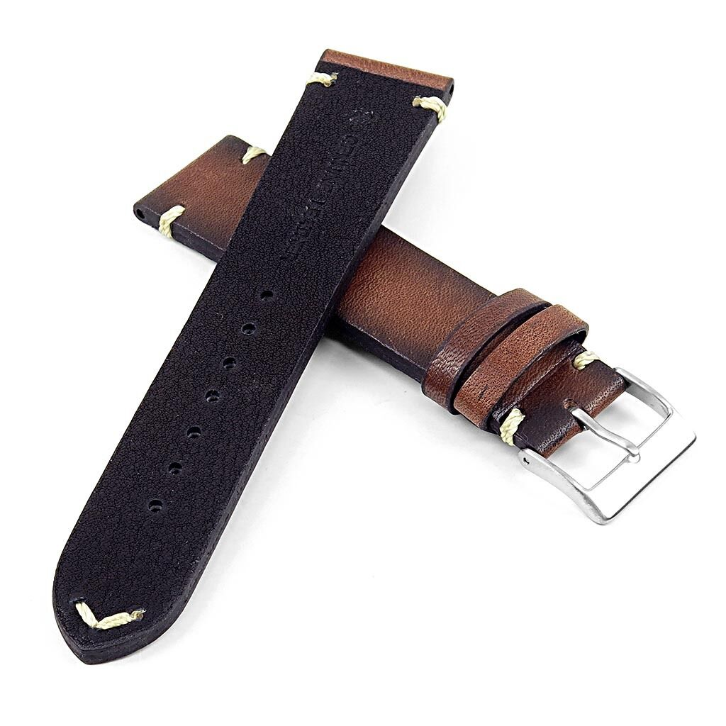 dassari regal vintage mens leather watch band strap with. Black Bedroom Furniture Sets. Home Design Ideas