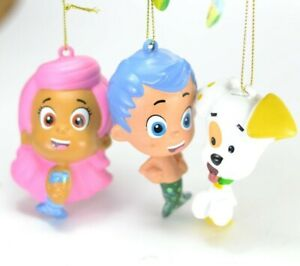 Bubble Guppies Rubber Christmas Ornament. Set of 3.  NEW
