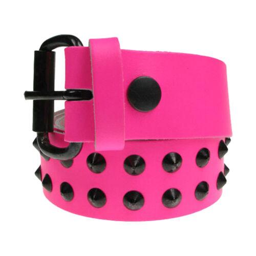 Nouveau bon marché fait main en angleterre noir conique clouté gothique punk ceinture en cuir