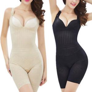 87696a1230 Image is loading Women-Full-Body-Waist-Trainer-Bodysuit-Shaper-Underbust-