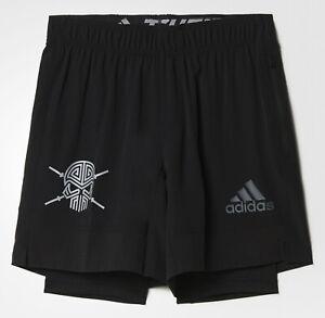 Laufhose-Sporthose-2-in-1-Leggings-Shorts-kurze-Hose-Herren-adidas-S3-T-S