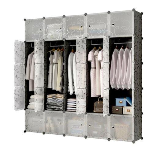 Tragbare Kleiderschrank Kleidung Schrank Schlafzimmer Speicher-Organisator Türen