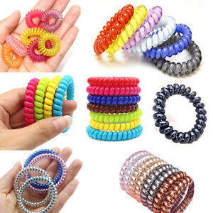 Fashion-Elastic-Telephone-Wire-Cord-Hair-Accessories-Bands-Rope-Bracelet-USA
