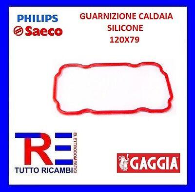 GUARNIZIONE CALDAIA IN SILICONE 120X79 MM MACCHINA DEL CAFFE/' SAECO 145854259