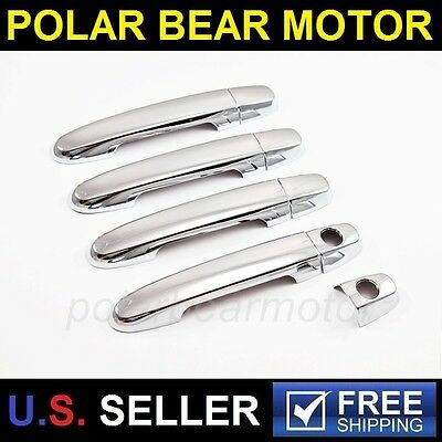 2003-2013 Toyota Corolla Matrix Sedan Chrome Door Handle Covers Trims With PSKH