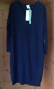 best service a2dfb 0b083 Hess Natur Oversize-Pulli Kleid, 36/38, blau, Wolle/Kaschmir ...