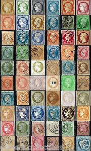 Timbres-1849-a-1871-Du-N-1-au-N-60-Ceres-Napoleon-obliteres-ou-non