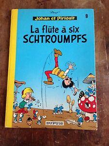 la-flute-a-6-schtroumpfs-reed-1975-johan-et-pirlouit-par-peyo-dupuis-BDM-40e