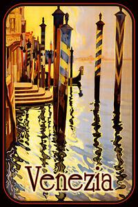 Venecia-Italia-Letrero-de-Metal-Arqueado-Cartel-Lata-20-X-30cm-CC0384