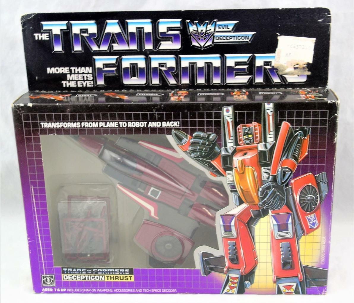 Transformers Original G1 1985 Thrust Complete w  Box and Bubble