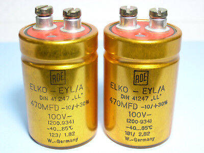 40V  ROE  EYL //B Hi-End Audio Series long life Capacitors/_ x 4 PIECES 470uF