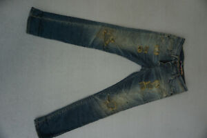 PLEASE-Jeans-stretch-Hose-Gr-XS-30-32-W30-L32-destroyed-used-risse-blau-TOP-CX20