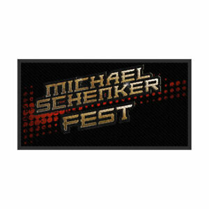 MICHAEL-SCHENKER-Fest-Woven-Sew-On-Patch-Official-Licensed-Band-Merch