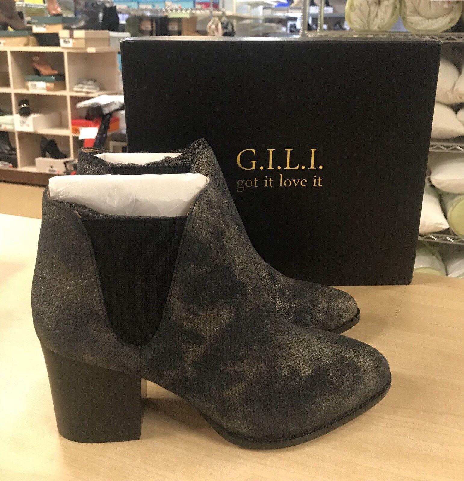 G.I.L.I 8.5M Baldwyn Leather Chelsea Boots - NEW