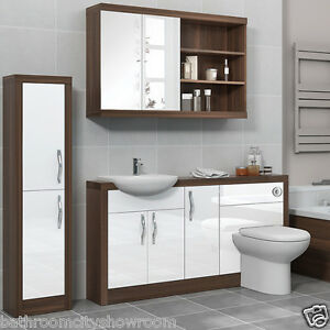 Bathroom Furniture Vanity Cabinet Storage Unit With Toilet And Sink