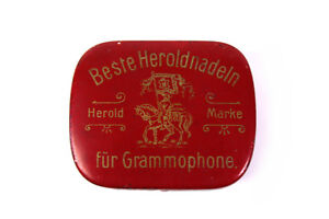 Well-Educated Antike Herold Blechdose Beste Heroldnadeln Grammophonnadeln Grammophon Nadeldose Providing Amenities For The People; Making Life Easier For The Population Radio, Phonograph, Tv, Phone